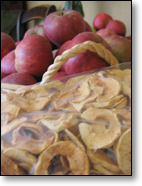 Dried Apple Rings for Winter