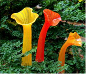 Brugmansia inspired Glass Gardens Northwest Art