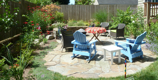 Fun Sunny Patio Space After