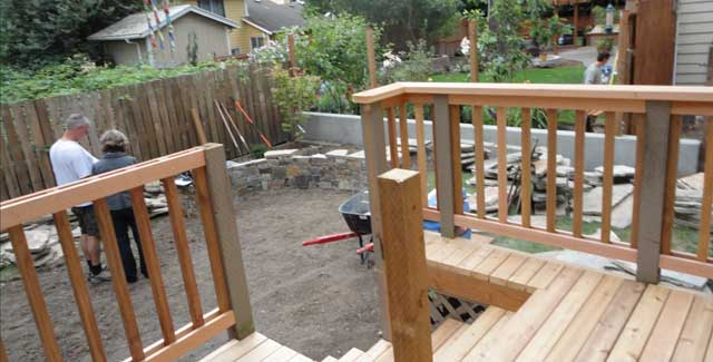 Deck, Patio & Wall in Progress