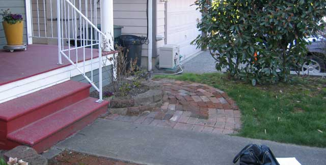 Leann's front walk before