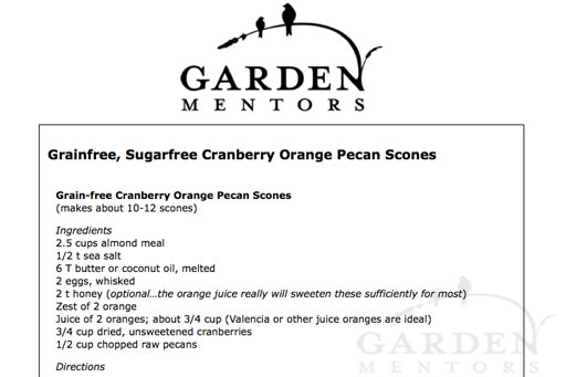 Sample of Our New Easy to Print Recipe Format