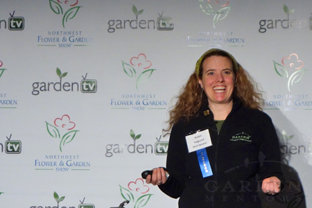 Robin Haglund of Garden Mentors at NW Flower and Garden Show