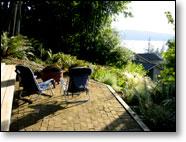 View of the Sound in Bellingham Garden