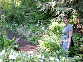 Katy Touring Bloedel Reserve on Bainbridge Island, WA