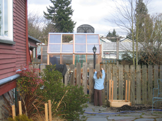 Greenhouse Being Built & Fence To Be Rebuilt