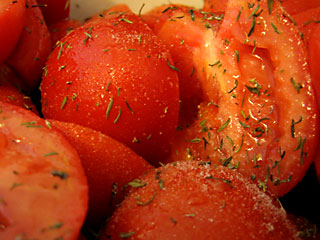 Paste Tomatoes Prepped for Dehydration