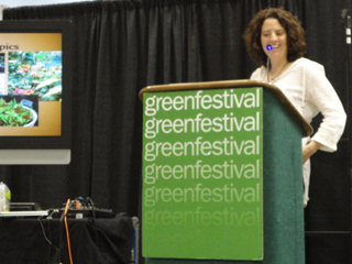 Robin speaking at GreenFestival Seattle