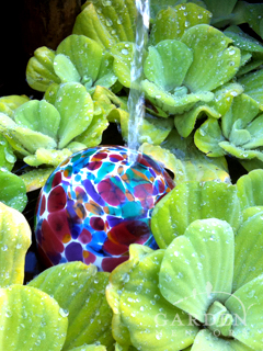 Glass Float in Water Feature