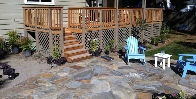 New Deck Connection to New Patio