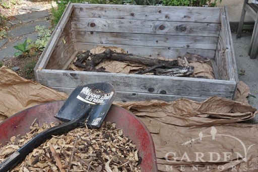 Filling the Cold Frame with wood