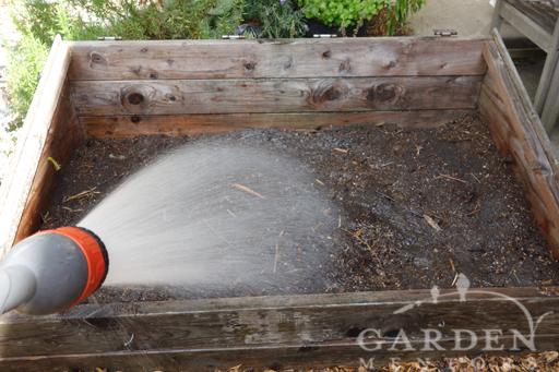 Watering Hugelkultur