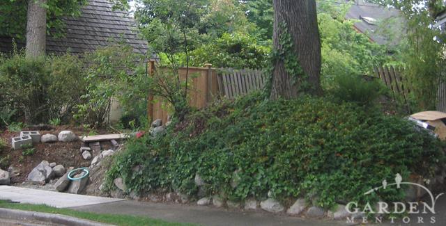 HGTV garden show: View of curb garden before