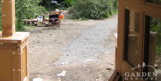 HGTV garden show: View from front door before