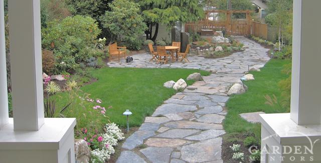 HGTV garden show: view from front door after
