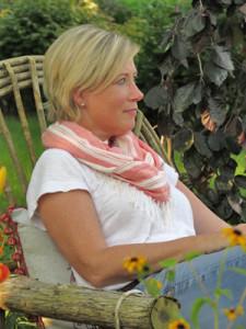 Jenny Peterson in Garden by Kylee Baumle